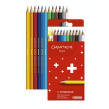 Caran D'ache Swisscolor Pencils Assorted Colours Set of 12