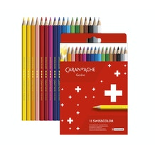 Caran D'ache Swisscolor Pencils Assorted Colours Set of 18