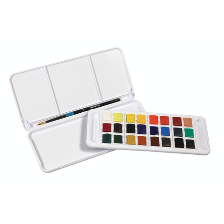 Daler Rowney Aquafine Half Pan Travel Set of 24 | Cass Art