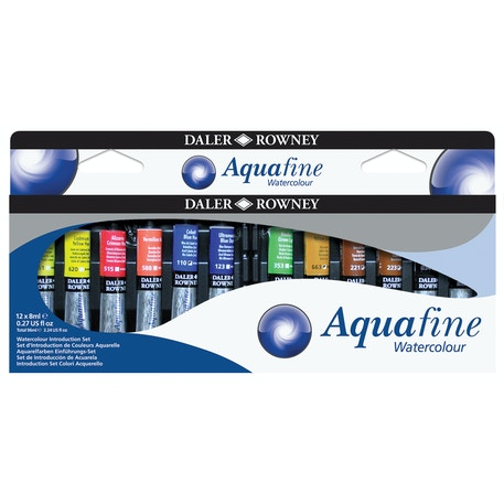 Daler Rowney Aquafine Watercolour Introduction Set of 12 x 8ml | Cass Art