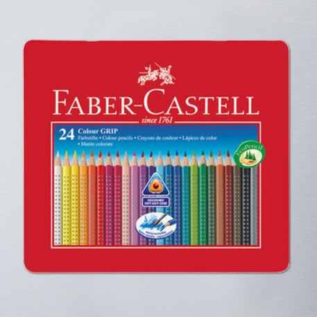 Faber-Castell Grip 2001 Pencil Tin Set of 24 | Cass Art