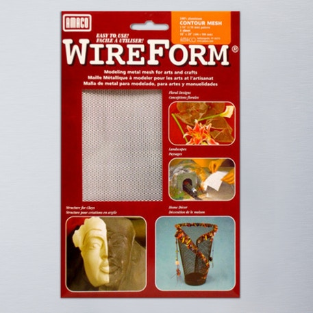 Wireform 50004D Contour Mesh Aluminium Folded Sheet | Wire Mesh | Cass Art