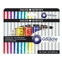 Daler Rowney Aquafine Gouache Starter Set of 6 x 15ml