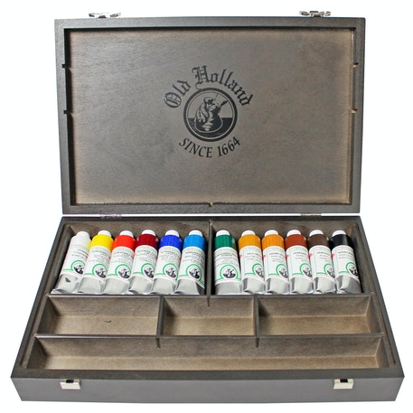 Old Holland Oil Colour Wooden Box 40ml Set of 12 | Cass Art