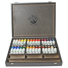Old Holland Oil Colour Wooden Box 40ml Set of 30