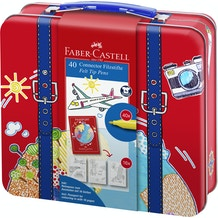 Faber Castell Connector Pen Suitcase Assorted Colours Set of 40