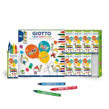 Giotto Cera Party Set of 4 Crayons x 10