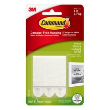 Command Medium Picture Hanging Strips Pack of 6