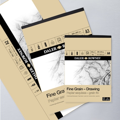 Daler Rowney Fine Grain Drawing Pad 200gsm 30 Sheets | Cass Art