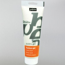 Pebeo Sand Texture Gel 250ml White
