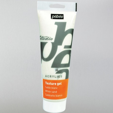Pebeo Sand Texture Gel 250ml White | Cass Art