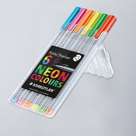 Staedtler Triplus Fineliner Neon Set of 6 | Cass Art