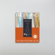 Fabriano Glued Watercolour Pad 300gsm 12 Sheets Hot