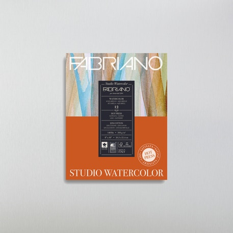 Fabriano Glued Watercolour Pad | Hot Pressed Watercolour Paper | Cass Art