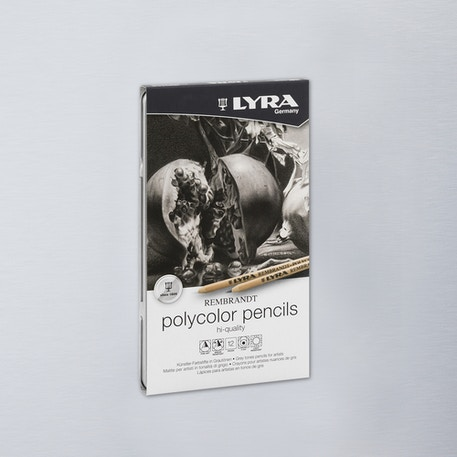 Lyra Rembrandt Polycolor Tin Grey Tones Set of 12 | Cass Art
