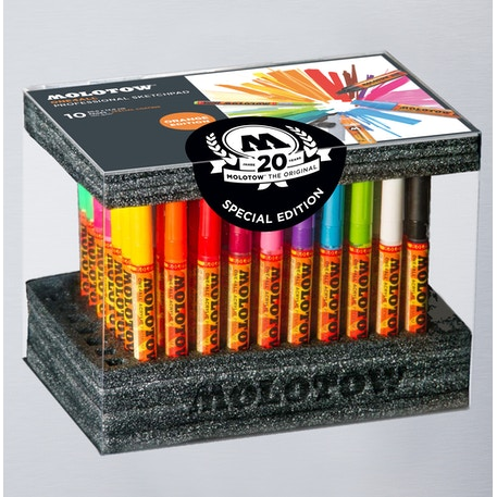 Molotow ONE4ALL  Acrylic Marker Display Set Complete Set of 70 | Cass Art