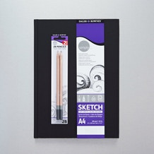 Daler Rowney Simply Portrait Hardback Book with 2 Pencils A4