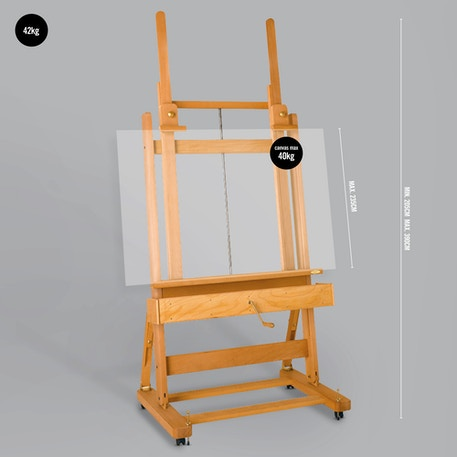 Mabef M02 Lugano Artist Studio Easel | Professional Easel | Cass Art