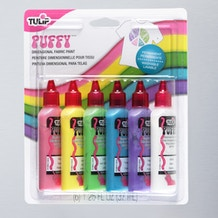 Tulip 3D Puffy Fabric Paint 37ml Set of 6