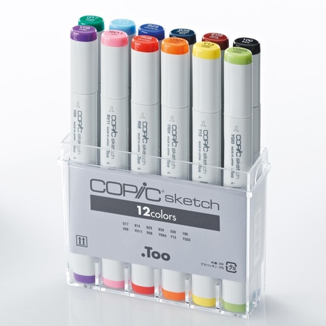 Copic Sketch Markers Set of 12 | Cass Art