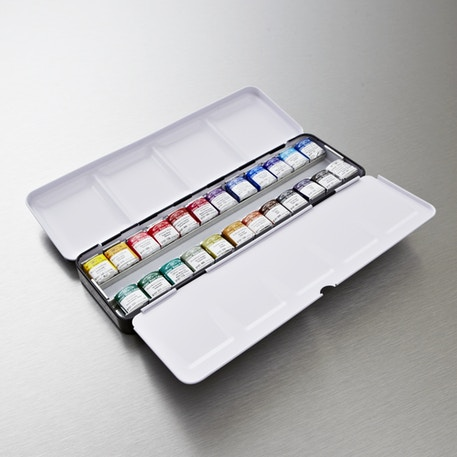 Winsor & Newton Professional Watercolour Half Pan Set of 24