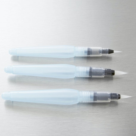 Pentel Water Brush Medium, Broad and Fine Set of 3 | Cass Art