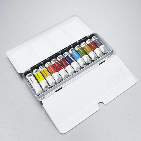 Cass Art Artists' Watercolour Metal Tin 10ml Set of 12 | Cass Art