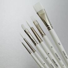Cass Art White Synthetic Brush Set of 6