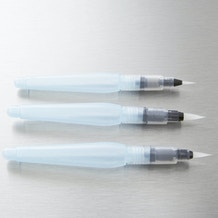 Pentel Water Brush Medium, Broad and Fine Set of 3