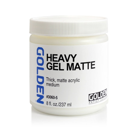 Golden Heavy Gel Matte 236ml | Cass Art