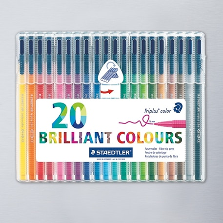 Staedtler Triplus Fibre Tipped Colour Pen Set of 20 | Cass Art