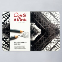 Conte a Paris Graphite Pencils 3H to 6B Set of 12