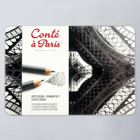 Conte a Paris Graphite Pencils 3H to 6B Set of 12 | Cass Art