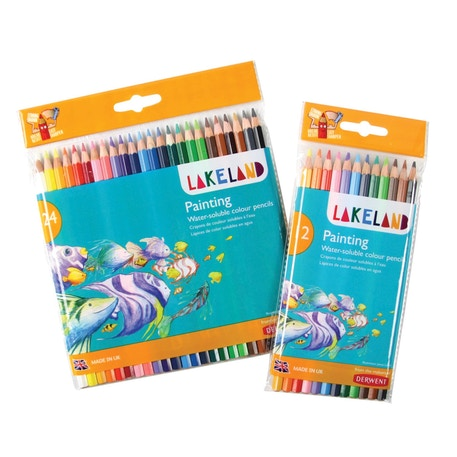 Derwent Lakeland Painting Water-soluble Colouring Pencils Set of 24   Cass Art