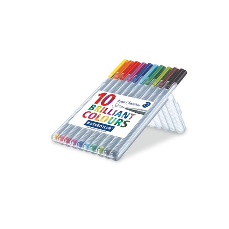 Staedtler Triplus Fineliner Set of 10 | Cass Art