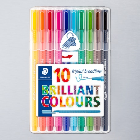 Staedtler Desktop Triplus Broadliner Set of 10 | Cass Art