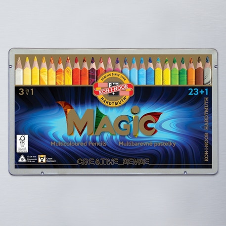 Koh-i-noor Jumbo Triangular Coloured MAGIC Pencils Set of 24 | Cass Art