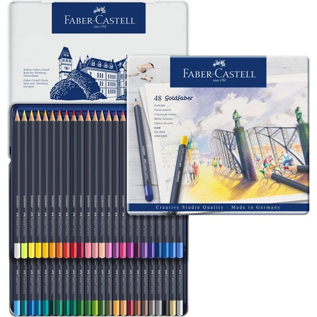 Faber-Castell Goldfaber Colour Pencils Set of 48 | Cass Art