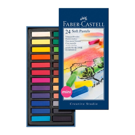 Faber-Castell Soft Pastels Mini Set of 24 | Cass Art