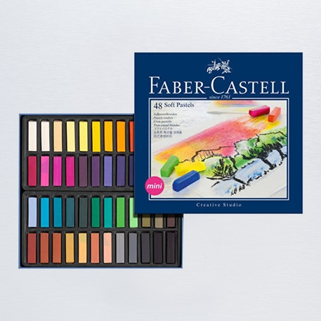 Faber-Castell Soft Pastels Mini Set of 48 | Cass Art