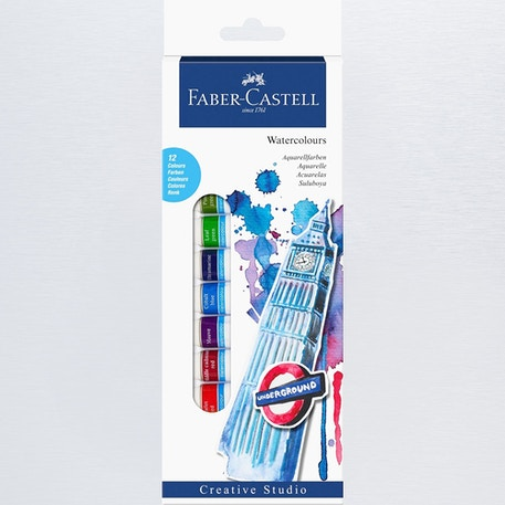 Faber-Castell Watercolours Starter Set of 12 12ml | Cass Art