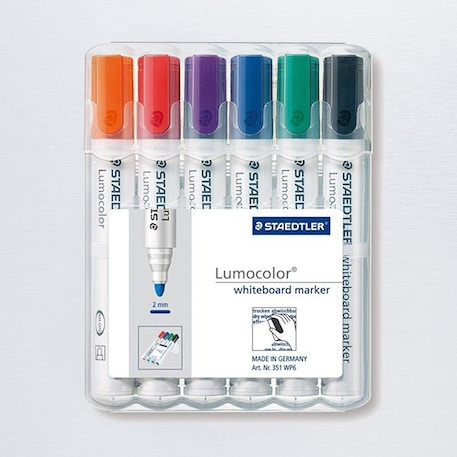Staedtler Lumocolor Whiteboard Set of 6 | Cass Art