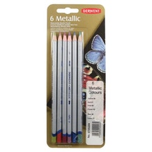 Derwent Metallic Coloured Pencils Set of 6