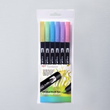 Tombow Dual Brush Pens Pastel Set of 6
