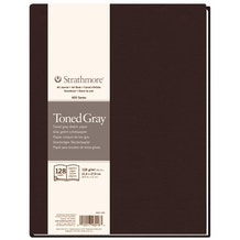 Strathmore 400 Series Soft Cover Sketchbook 56 Sheets 89gsm 13.9 x 20.3cm Toned Gray