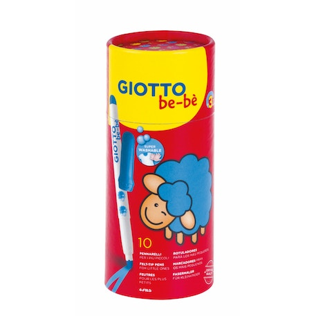 Giotto Be-be Super Fibre Pens in a Pot of 10