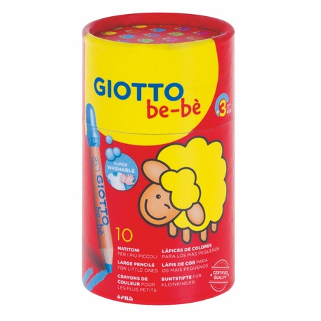 Giotto Bebe Super Large Pencils in a Pot Set of 10