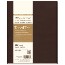Strathmore 400 Series Hardback Sketchbook 64 Sheets 118gsm 13.9 x 21.5cm Toned Tan