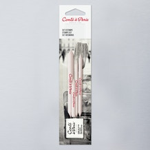 Conte a Paris Paper Blending Stumps and Eraser Accessories Set of 5
