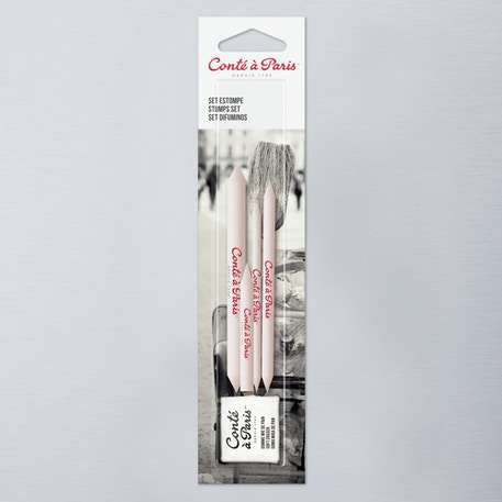 Conte a Paris Paper Blending Stumps and Eraser Accessories Set of 5 | Cass Art